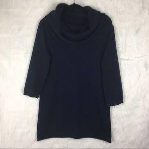 Cynthia Rowley 100% Cashmere Navy Blue Tunic